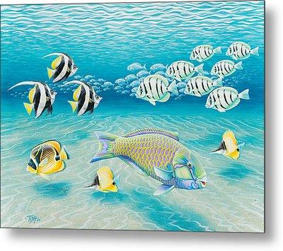 Tropical Fish Metal Print by Tish Wynne