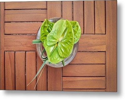 Tropical Flower Metal Print by Tom Gowanlock