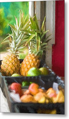 Tropical Fruitstand Metal Print
