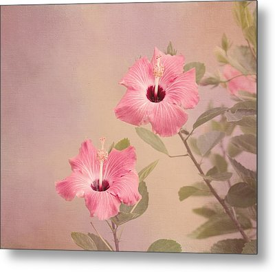 Tropical Hibiscus Metal Print by Kim Hojnacki