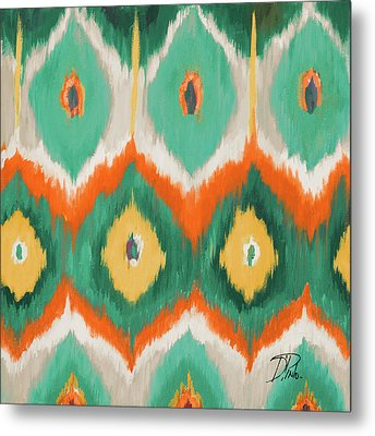 Tropical Ikat II Metal Print by Patricia Pinto