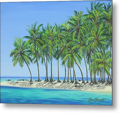 Tropical Lagoon Metal Print by Jane Girardot