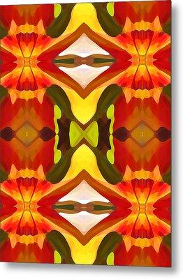 Tropical Leaf Pattern  11 Metal Print by Amy Vangsgard