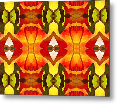 Tropical Leaf Pattern  12 Metal Print by Amy Vangsgard
