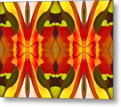 Tropical Leaf Pattern 13 Metal Print by Amy Vangsgard