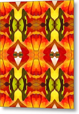 Tropical Leaf Pattern  9 Metal Print by Amy Vangsgard