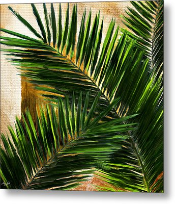 Tropical Leaves Metal Print by Lourry Legarde