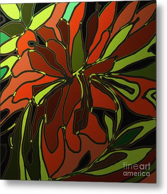 Tropical Leaves Metal Print by Shesh Tantry