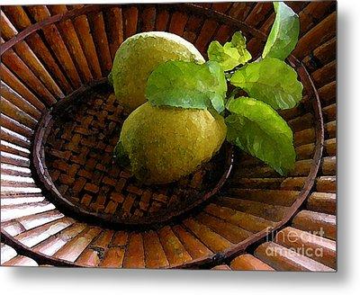 Tropical Lemons Metal Print by James Temple
