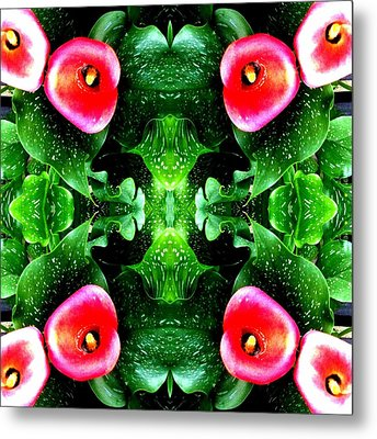 Tropical Lush-us Abstract Metal Print by Marianne Dow