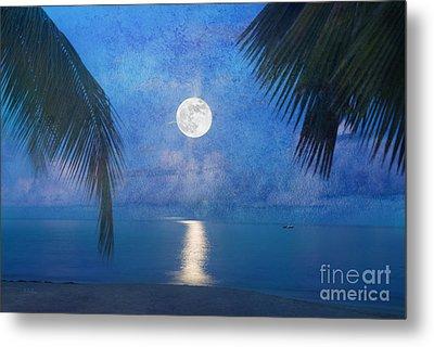 Tropical Moonglow Metal Print by Betty LaRue