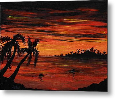 Tropical Night Metal Print by Anastasiya Malakhova