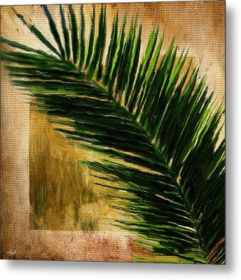 Tropical Palm Metal Print by Lourry Legarde