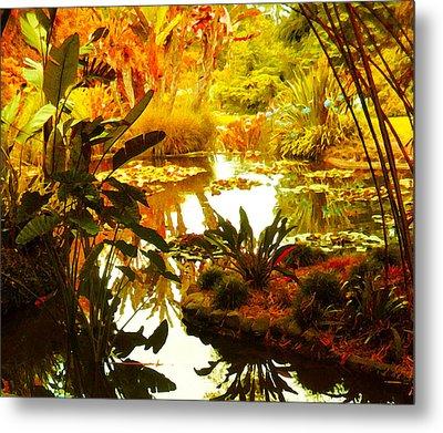 Tropical Paradise Metal Print by Amy Vangsgard