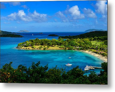 Tropical Paradise In The Virgin Islands Metal Print by Greg Norrell