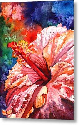 Tropical Pink Hibiscus Metal Print