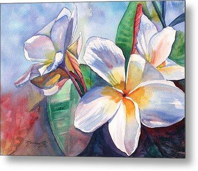 Tropical Plumeria Flowers Metal Print