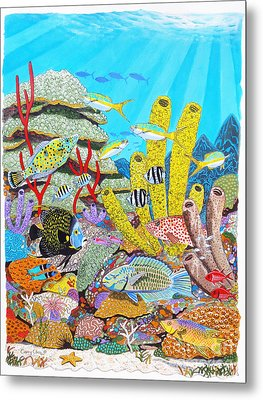 Tropical Reef Metal Print by Carey Chen