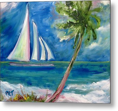 Tropical Sails Metal Print by Patricia Taylor
