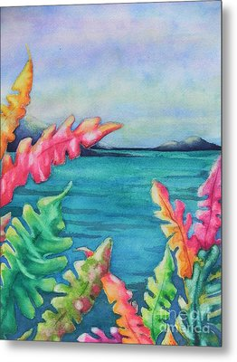 Tropical Scene Metal Print