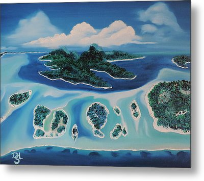 Metal Print featuring the painting Tropical Skies by Dianna Lewis