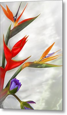 Tropical Splash Metal Print
