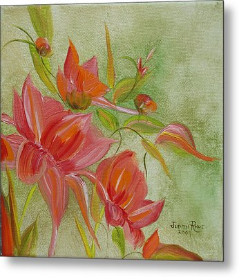 Metal Print featuring the painting Tropical Splash by Judith Rhue