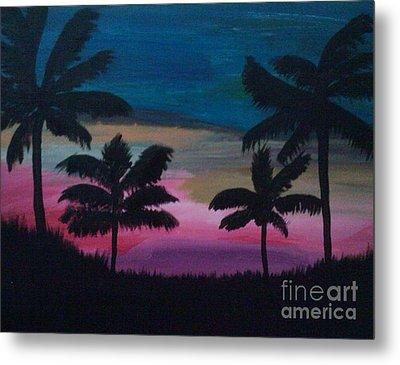 Tropical Sunset Metal Print by Krystal Jost