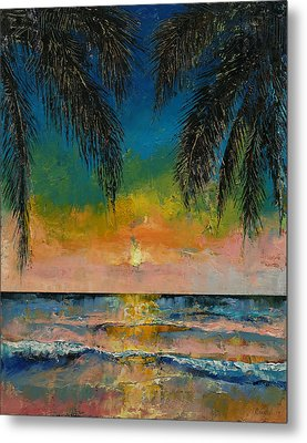 Tropical Sunset Metal Print by Michael Creese