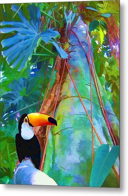 Tropical Toucan Metal Print by Kathleen Holley