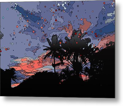 Tropical Twilight Metal Print by Stacy Vosberg