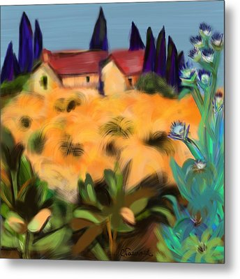 Tropical View Metal Print by Christine Fournier