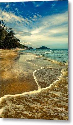Tropical Waves Metal Print by Adrian Evans