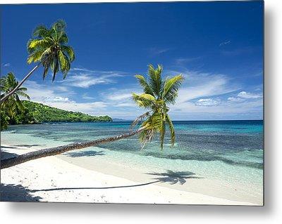 Tropical White Sand Beach Metal Print by Joe Belanger