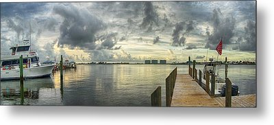 Metal Print featuring the digital art Tropical Winds In Orange Beach by Michael Thomas