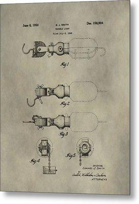 Trouble Light Patent Metal Print