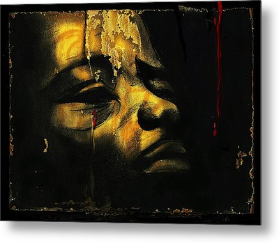Troubled  Africa Metal Print