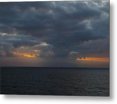 Metal Print featuring the photograph Troubled Skies by Jennifer Wheatley Wolf