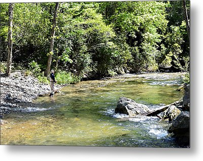 Trout Fishing Metal Print by Susan Leggett