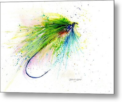 Trout Fly Metal Print by Christy Lemp