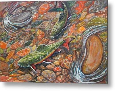 Trout Stream Metal Print by Jenn Cunningham