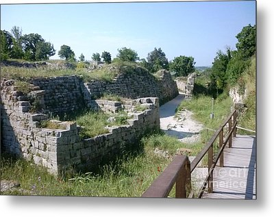 Troy City Walls Metal Print