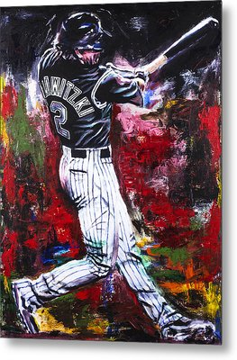 Troy Tulowitzki Metal Print by Mark Courage