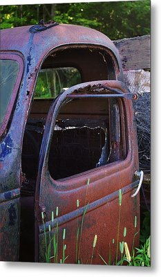 Truck And  Door Metal Print by Randy Pollard