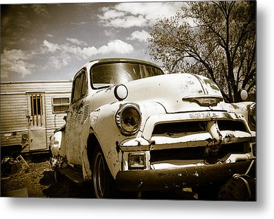 Metal Print featuring the photograph Truck And Trailer by Steven Bateson
