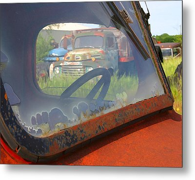 Metal Print featuring the photograph Truck Glass by Christopher McKenzie