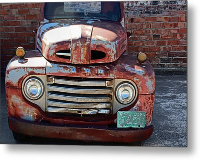 Ford In Goodland Metal Print by Lynn Sprowl