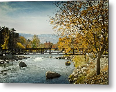 Metal Print featuring the photograph Truckee River Downtown Reno Nevada by Janis Knight
