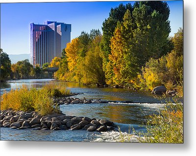 Truckee River From Sparks Metal Print by Janis Knight