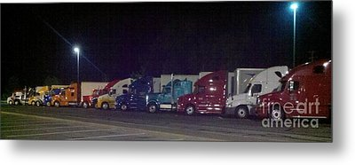 Truckin Metal Print by Polly Anna